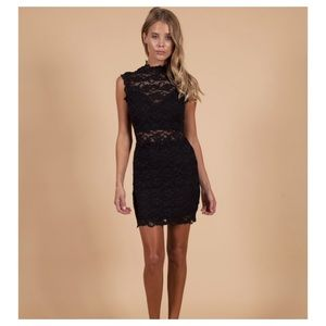 Nightcap Dixie Lace Cutout Mini Dress Free People